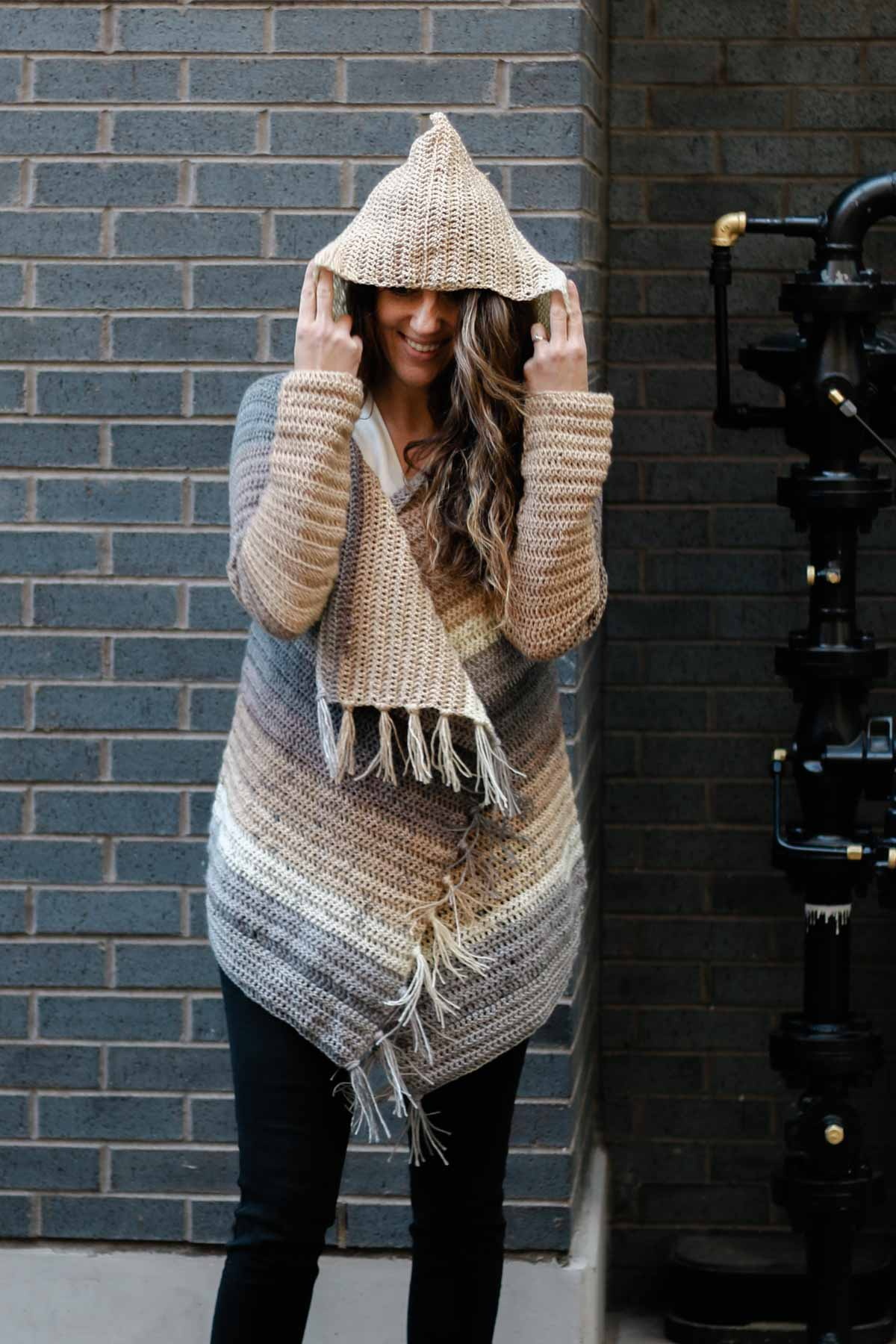 Very Easy Free Crochet Sweater Pattern With A Hood