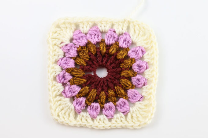 Beautiful Sunburst Granny Square Crochet Pattern + Video
