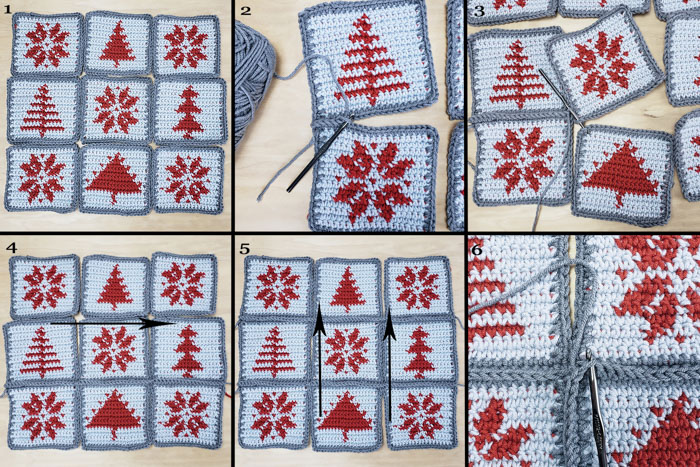 Make this Christmas tapestry crochet pattern and enjoy your Scandinavian-inspired pillows all winter long!