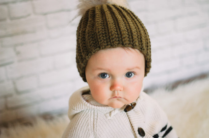 The Absolute Easiest Adult, Child + Baby Hat Crochet Pattern