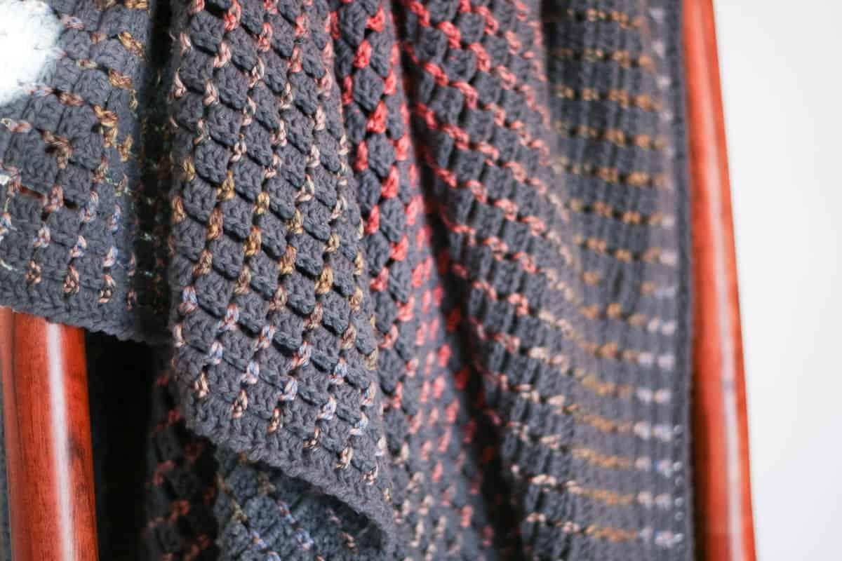 Crochet Boxed Block Stitch Blanket Pattern Make Do Crew