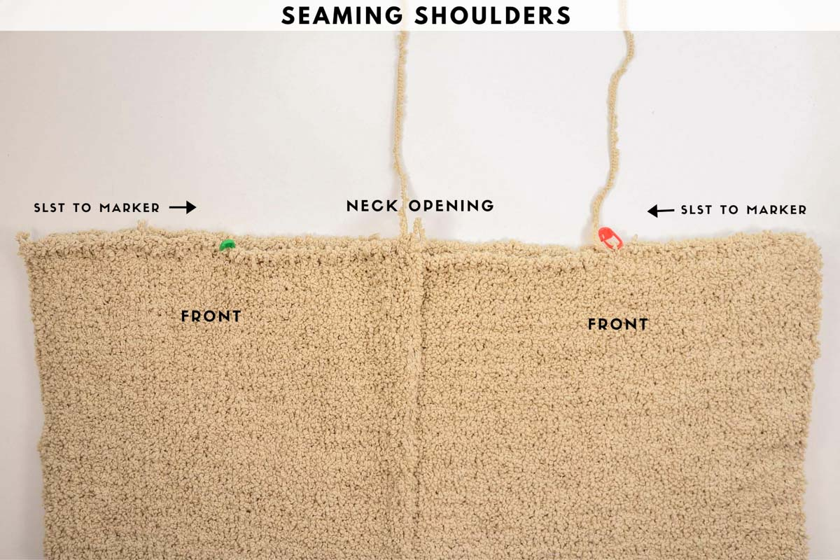 Tutorial that shows how to sl st seam crochet pieces together.