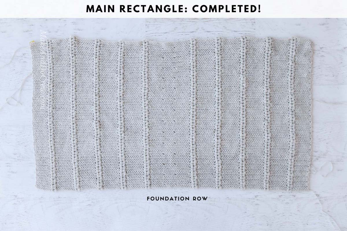 Baggy crochet sweater tutorial: Main rectangle that will form the crochet cardigan.