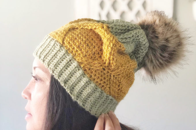 Pineapple Crown Beginner Crochet Cable Hat – Free Pattern by The Plush Pineapple