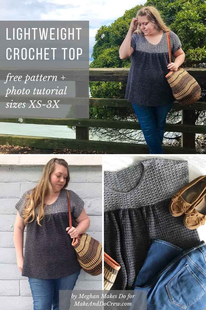 Free crochet pattern and photo tutorial for a lightweight summer top.