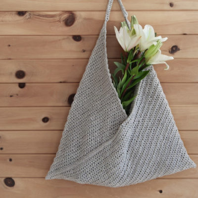 Free pattern and photo tutorial for a beginner crochet tote bag