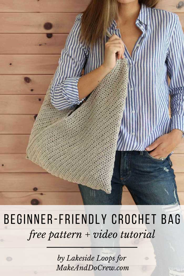 Free pattern and tutorial for beginner-friendly crochet bag