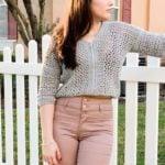 Lightweight Cropped Crochet Sweater – Free Pattern by Mommy Loves Yarn