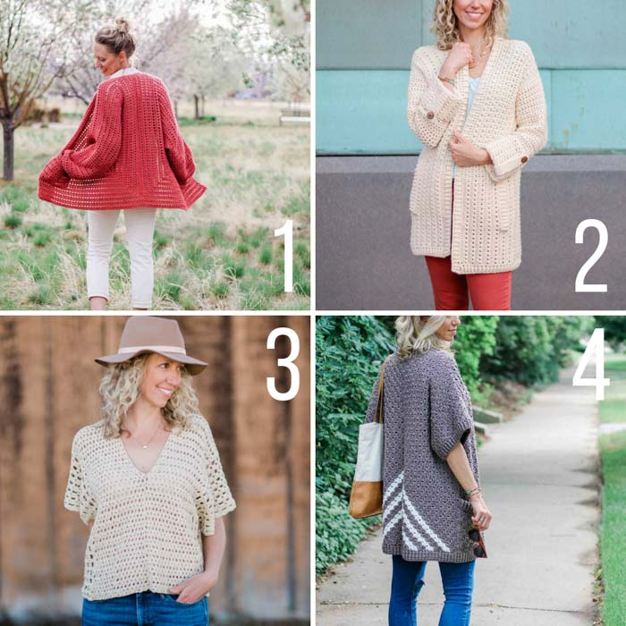 Free crochet sweater patterns that are perfect for spring and summer. Many include video tutorials and are great for beginners.