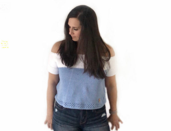 Free crochet pattern and tutorial for a beginner Tunisian crochet top