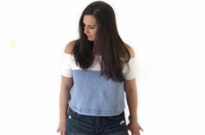 Beginner Tunisian Crochet Top – Free Pattern by dmk_crochet