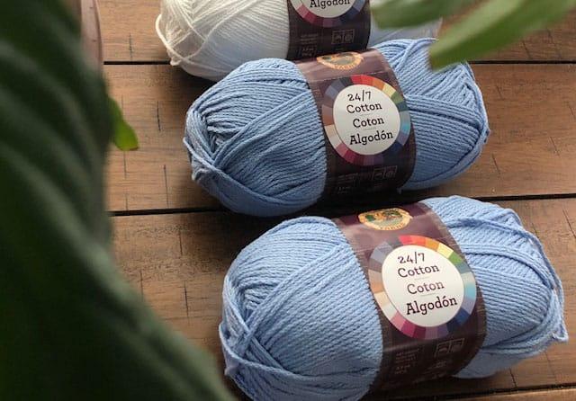 Free tunisian crochet pattern using Lion Brand 24/7 Cotton
