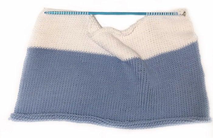 Tunisian crochet beginner top pattern and tutorial, one panel