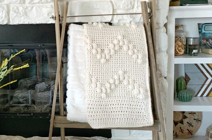 Crochet Bobble Stitch Afghan – Free Pattern by Simply Made by Erin