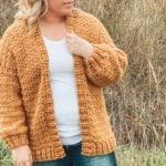 Nearly Seamless Crochet Cardigan – Free Pattern by Hooked Hazel