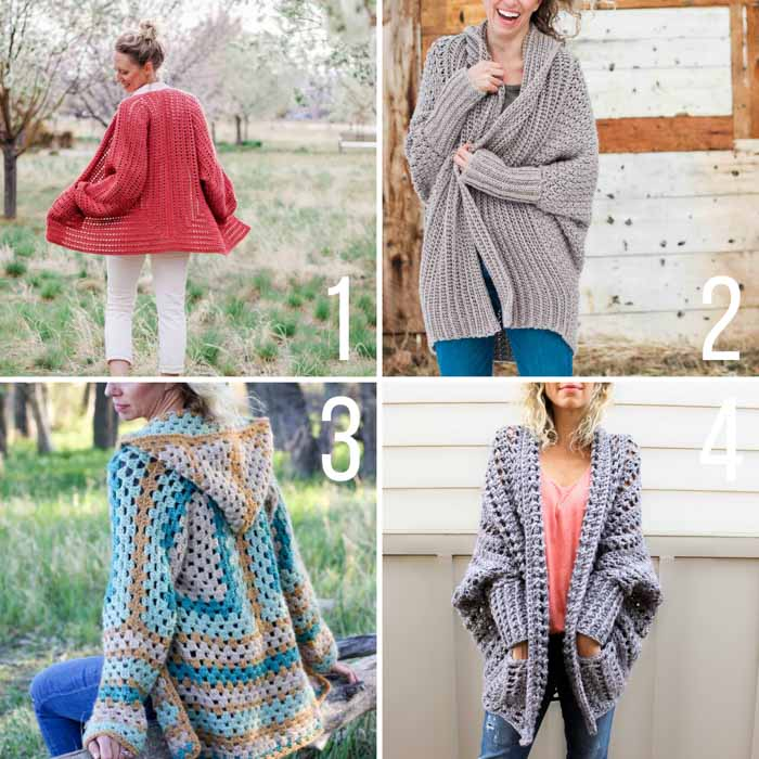 Free crochet sweater patterns for beginners - free crochet cardigan patterns that anyone can make!