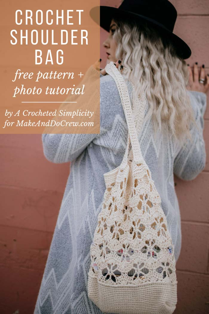Free step-by-step photo tutorial and pattern for a summer crochet bag. The open flower design creates a beautiful summer style.