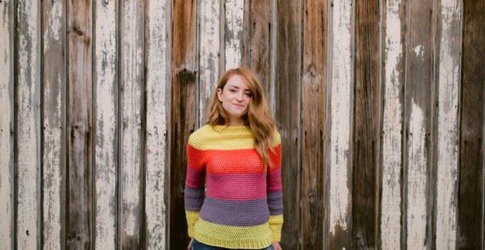 Top Down Crochet Sweater – Free Pattern by Colourful Crochet
