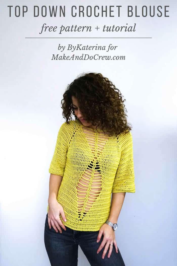 Seamless Raglan Crochet Top Free Pattern Tutorial From Bykaterina