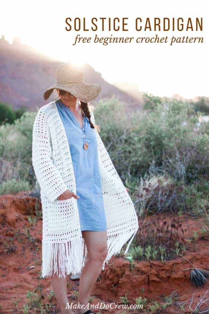 Easy Crochet Long Cardigan - Free (Very Easy!) Boho Pattern