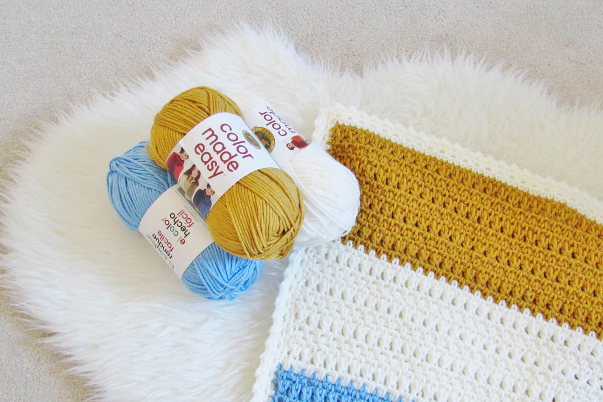 Free crochet blanket pattern made with Lion Brand Color Made Easy yarn
