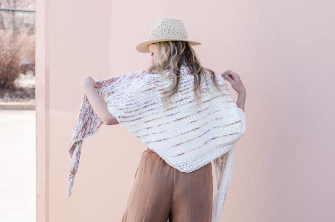 Easy Tunisian Crochet Fade Shawl Pattern