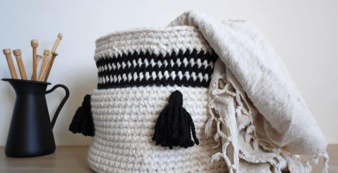 Easy Crochet Basket – Free Pattern by Malloo
