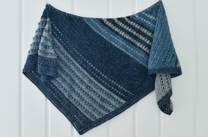 Free Crochet Puff Stitch Shawl Pattern by Montana Crochet