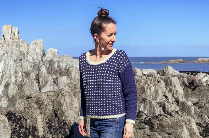 Tapestry Crochet Fisherman's Sweater – Free Pattern by Zoë Curtis