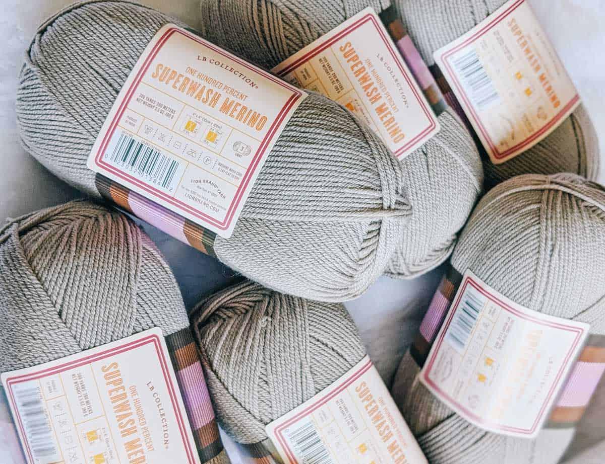 Free crochet sweater pattern using Lion Brand