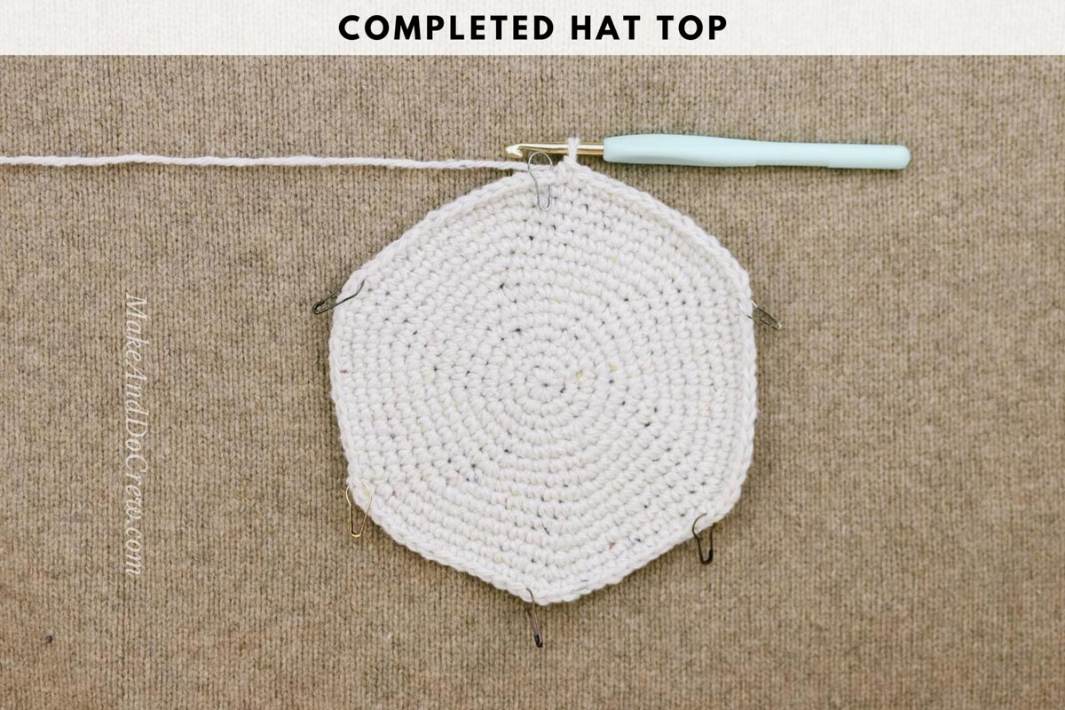 A photo tutorial showing how to crochet a rancher style hat with Lion Brand Re-Tweed yarn in the color Hay.