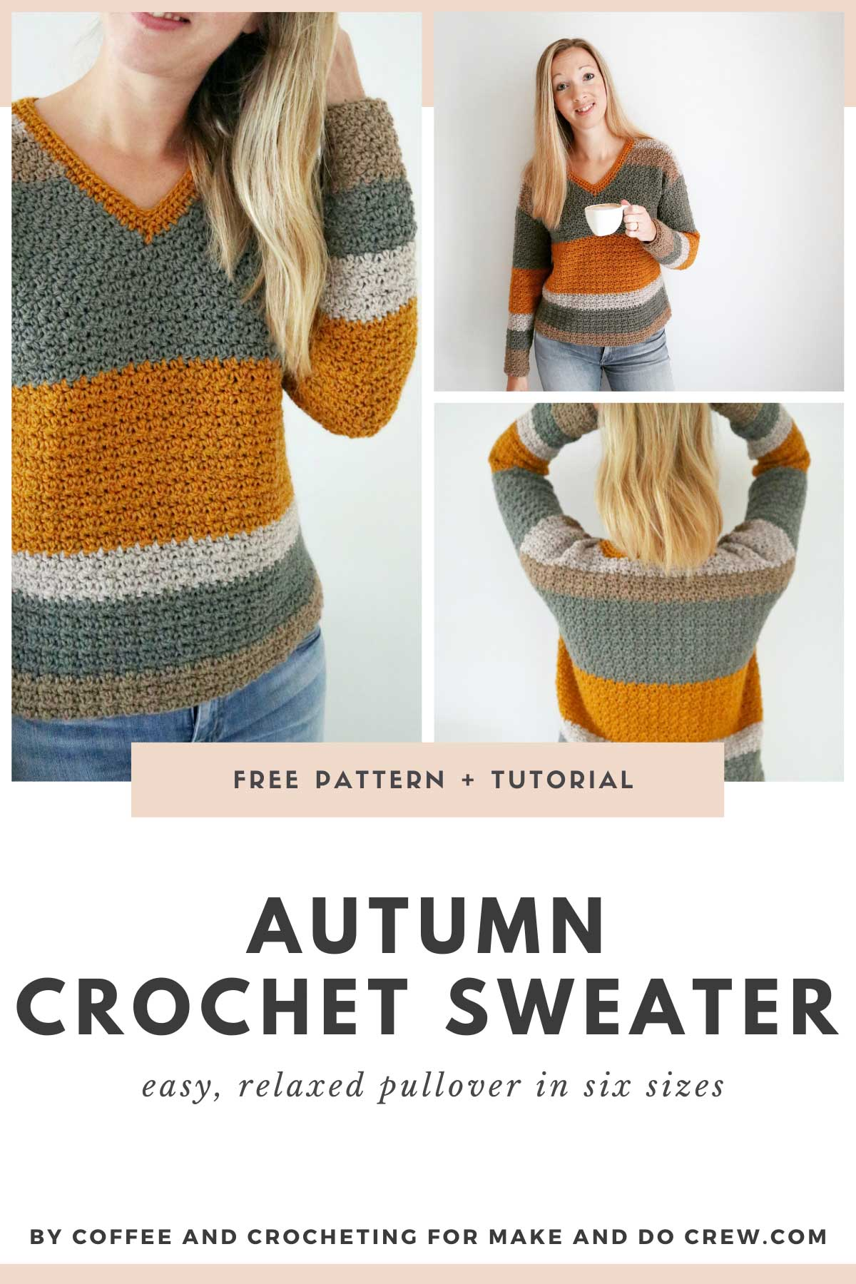 Creative construction and simple stitches come together easily in this crochet pullover pattern made with Lion Brand Merino Yak Alpaca yarn.