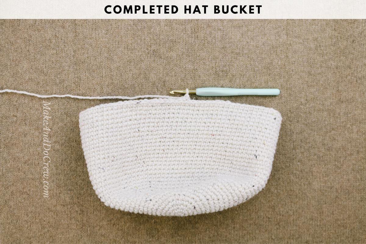 A photo tutorial showing how to crochet a cowboy hat with Lion Brand Re-Tweed yarn in the color Hay.