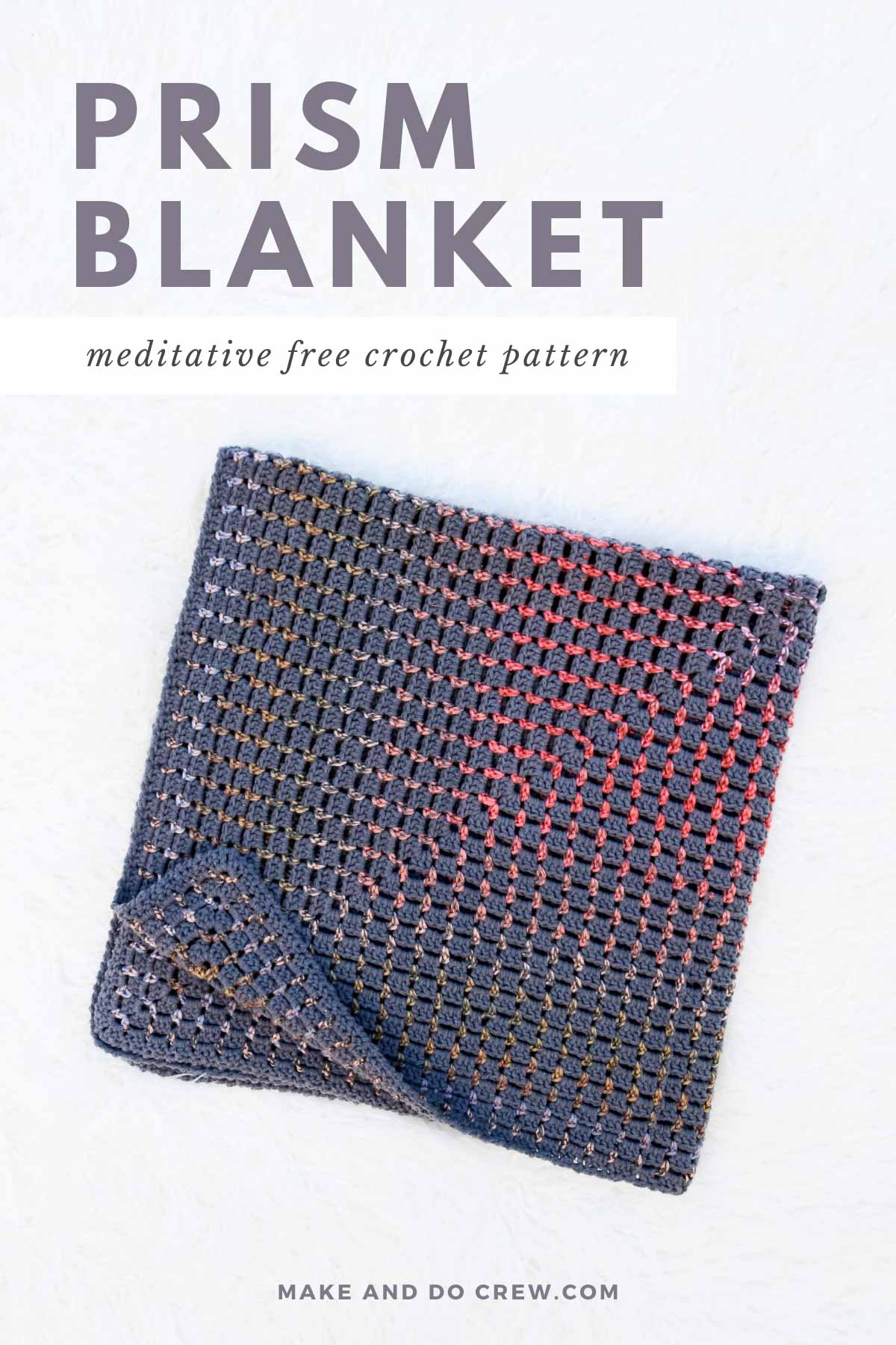 Crochet a blanket that radiates from the center outward by combining self-striping yarn and a melodic, relaxing stitch. Experiment with solid-colored or chunkier to personalize your own unique rainbow baby crochet blanket!