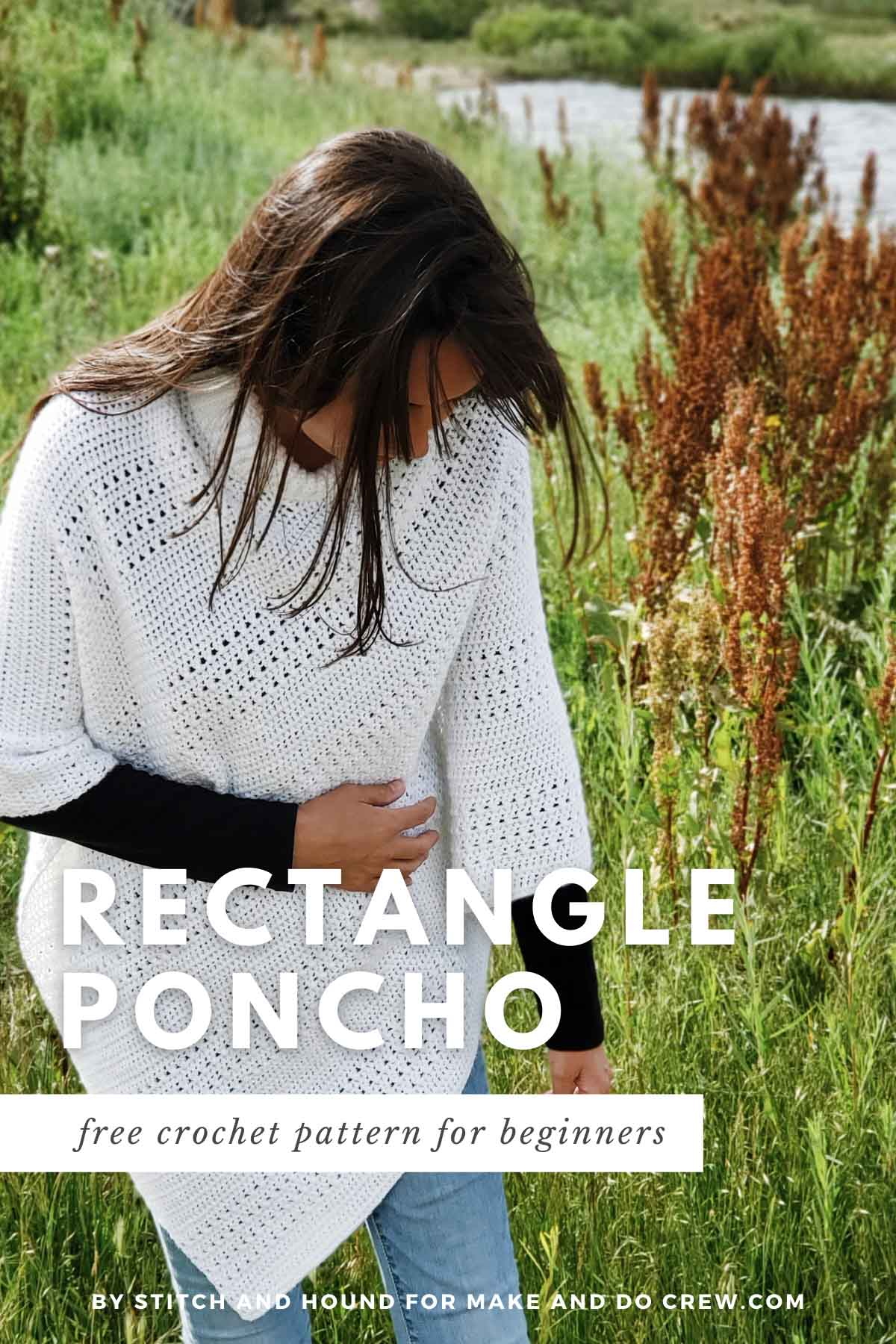 The construction of this crochet poncho made from a rectangle could not be easier. You'll love the delicate drape and cruise-control stitches.